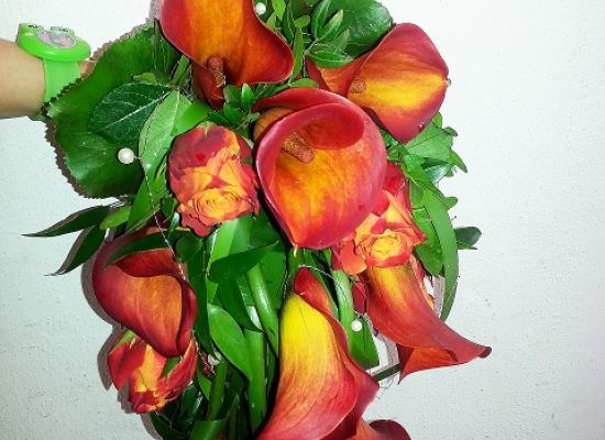 Brautstrau Calla Orange
